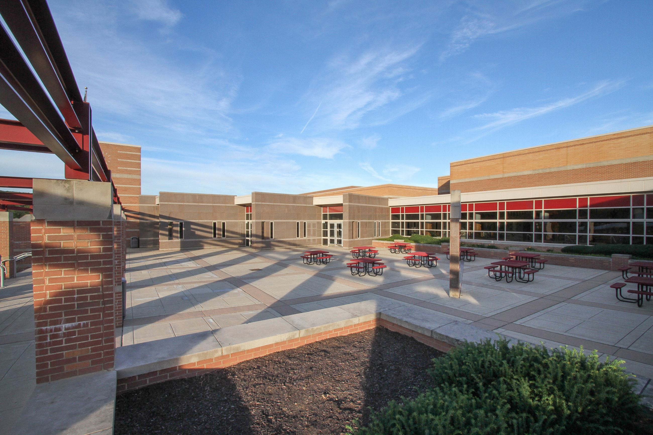 Great Valley Middle School Courtyard
