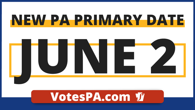 New PA primary date